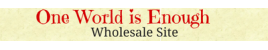 One World is Enough - Wholesale Store