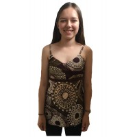Bold Geometric Strappy Lucy Blouse - Fair Trade 100% Cotton