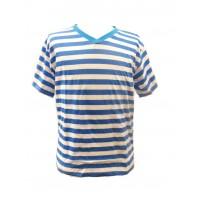 Fair Trade 100% Cotton Classic Stripey Blue / White Mens T Shirt