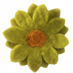 Hand made Felt Chrysanthemum Flower Brooch - Mixed Colours - Fair Trade