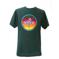Fair Trade Embroidered Classic Kathmandu T Shirt ( Green T Shirt)