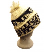 Fair Trade Traditional Unlined Bobble Hat - Hand Knitted - 100% Fairtrade Wool - Various Colours