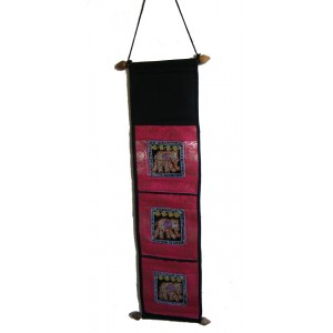 Thai Sequined Elephant Letter Holder/ Banner - Mixed Colours - Fair Trade
