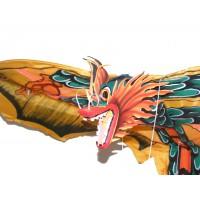 Large Traditional Handmade Yellow Balinese Dragon Kite