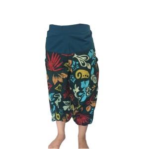 Fair Trade Sea Green Cotton Cropped 3/4 Length Beach Trousers