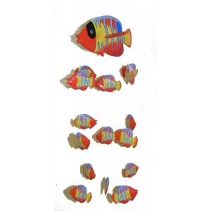 Fair Trade Hand Painted Red Balinese Kissing Fish Mobile