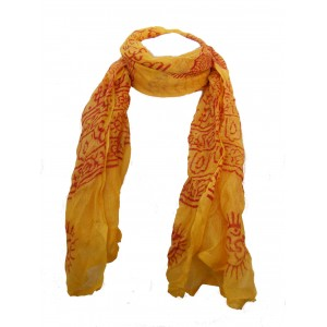 Fair Trade Cotton Hand Printed  Ram Nami Scarves - Set of 10 Mixed Colours