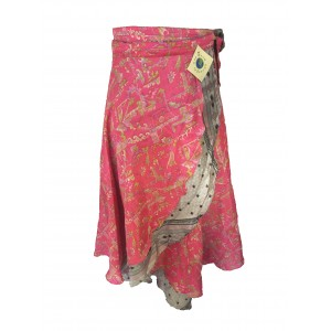 Fair Trade Full Length Sari Silk  Reversible Wrap Skirt - Mixed Colours - Best Seller!